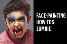 We show you how to make a spooky zombie in this fun face painting for kids easy.