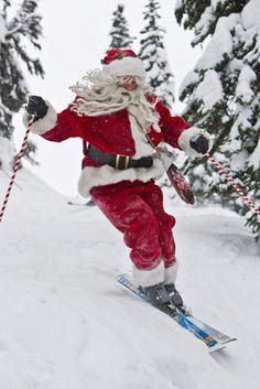 cornersoftheworld:  Skiing Santa(by whistlerblackcomb)