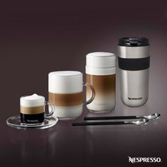 Nespresso VertuoLine   From espresso to large-cup, crema-topped coffee, the VertuoLine has it all. Experience the revolution of coffee. Click here to explore the VertuoLine Nespresso machine.