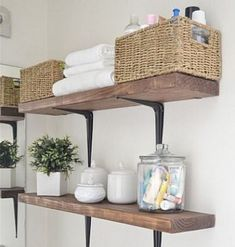 76 Ways To Decorate A Small Bathroom Shutterfly Replace Your Bathroom Shelves With These 13 Creative Ideas Small Bathroom Best Wall Shelves Storage Ideas Apartment Shabby Chic Shelves Adorable Bathroom Ideas Kitchen Shelving 25 Best Diy Bathroom Shelf Diy Bathroom, Small Bathroom Storage, Laundry Room Storage, Small Storage, Closet Storage, Bathroom Shelves, Vanity Shelves, Wall Shelves, Bathroom Ideas