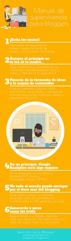 Manual de supervivencia para Bloggers #infografía
