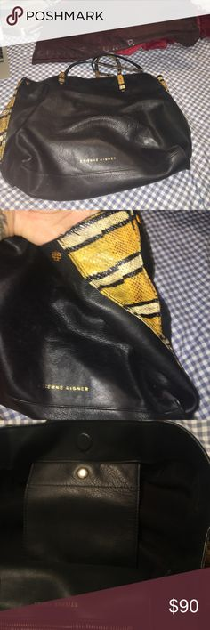 Etienne Aigner tote real leather bag REAL LEATHER 100% authentic... you can look it up online on the website I'll post link.. comes with DUST BAG!! Etienne Aigner Bags Totes