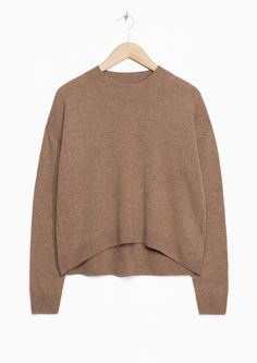 Other Stories image 1 of Cashmere Sweater in Beige