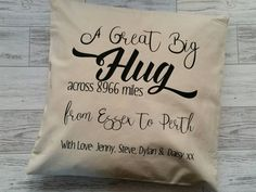 Check out this item in my Etsy shop https://www.etsy.com/uk/listing/483484155/hug-across-the-miles-personalised