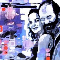 A personnaliser - mariage : peinture à partir d'une photo