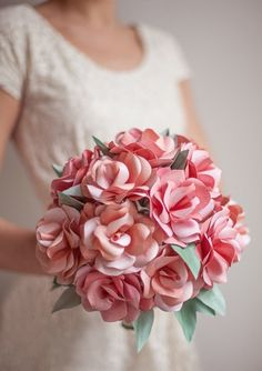 Rose Petal Posy | Paper Lovelies - 14 Fab Paper Flower Ideas