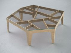 Chinese lattice coffee table, view 1, via Flickr.