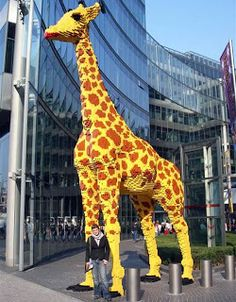 20 ft tall LEGO giraffe in fron of Sony Center (Berlin)  http://doyouactuallyknow.blogspot.com/2010/05/crazy-lego-creations.html