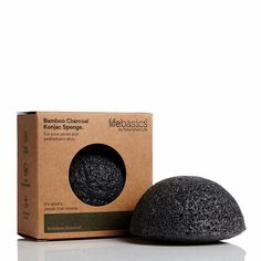 Life Basics Konjac Sponge - Bamboo Charcoal | Nourished Life Australia Coconut Allergy, Natural Facial Cleanser, Cell Growth, Cruelty Free, Allergies, Biodegradable Products, Charcoal, Bamboo, Life
