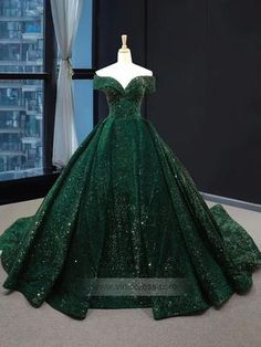 Real Picture Dark Green Sequins V Neck Sweep Train Formal Prom Dress, Special Oc. - Real Picture Dark Green Sequins V Neck Sweep Train Formal Prom Dress, Special Occasion Dress 2020 – dresses big big dresses green dress green dresses grey - Sparkly Prom Dresses, Pretty Dresses, Beautiful Dresses, Dress Prom, Elegant Dresses, Green Wedding Dresses, Dark Green Prom Dresses, Vintage Formal Dresses, Dress Hire