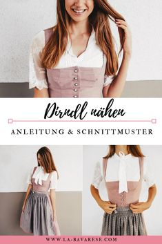 Sew Dirndl Classico - Knitting for Beginners Baby Dirndl, Books Decor, Knitting For Beginners, Bustiers, Sewing Tutorials, Sewing Patterns, Street Style Women, Diy Clothes, Baby Knitting
