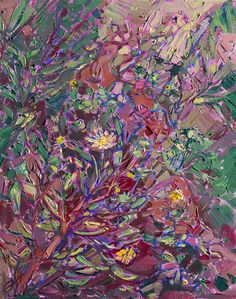 Dusky Flower - Contemporary Impressionism | Landscape Oil Paintings for Sale by Erin Hanson