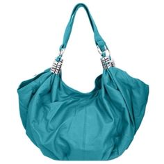 "Party Sale! Beautiful Turquoise ShoulderBag, Purse Beautiful Turquoise Shoulder Bag!   Wide Shoulder Purse *Leather Feel 7"" Drop *Dual Carry Handles *Closing Zipper *Back Zipper Pocket *Lined Interior *Silver Toned Hardware Approx: 19.5""L x 9""H x 8""W Bags Hobos"