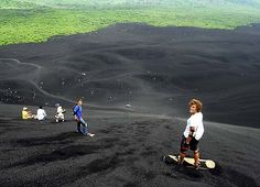 Places to go, and things to do...volcano boarding in Nicaragua