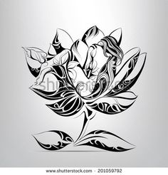 Sleeping girl in flower. vector illustration - buy this vector on Shutterstock & find other images.