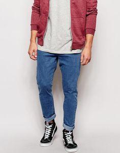 a0fe90b1 Zee Gee Why Jeans Dropsticks Drop Crotch Slim Taper Bugn Mid Wash at  asos.com