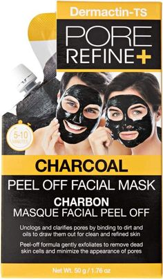 Dermactin-TS Pore Refine Charcoal Peel Off Mask cleans and purifies the skin with an easy to apply and remove mask. Charcoal Peel Off Mask, Best Skin Care Regimen, Natural Vitamin E, Hair Loss Remedies, Pores, Homemade Face Masks, How To Treat Acne, Facial Masks, Oily Skin