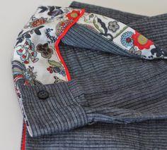 """Chemise SAPHIR, détail manche, Grains de Couture - Hommes et Femmes,Ivanne SOUFFLET, by """"Home made by Ning"""""""