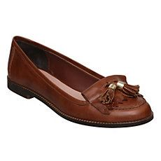 LADWELL - Tassel Trim Leather Loafer  (Clarks tan leather version fine also)