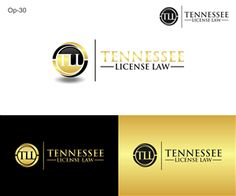 Logo for TENNESSEE LICENSE LAW Serious, Modern Logo Design by Jessica