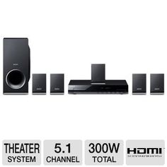 Sony 300 Watts Channel Home Theat… Dvd Home Theater System, Home Theater Speakers, Wireless Surround Sound, Surround Sound Systems, Home Theater Surround Sound, Tv Accessories, Video Home, Hdmi Cables, Entertainment System