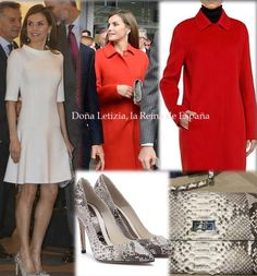 Queen Letizia contributed to the ARCO opening a new dress, shoes by Magrit and bag by Lidia Faro. When she arrived a mantle of mango