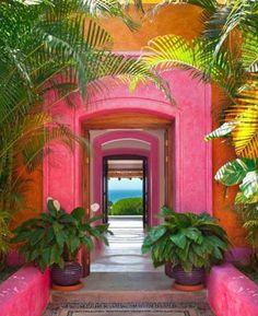 Pink paradise . Las Alamandas, Puerto Vallarta, Mexico. #boutiquehotel #pink #paradise #flamingo #mexico #travel #hotel #wanderlust #instatravel #architecture #arquitectura #honeymoon #nomad #spirit  #thestylephiles