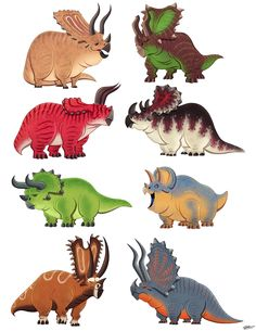 Olivier SILVEN's CERATOPSIANS SKETCHES on Behance