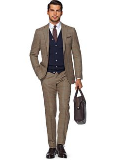 Brown check linen,wool and silk suit by suitsupply | it suits me ...