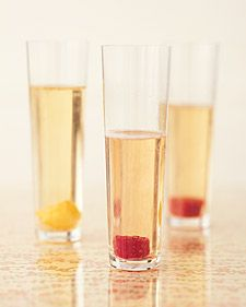 drink: Give bubbly a boost with jewel-like cranberry-, pomegranate-, and apricot-infused sugar cubes.