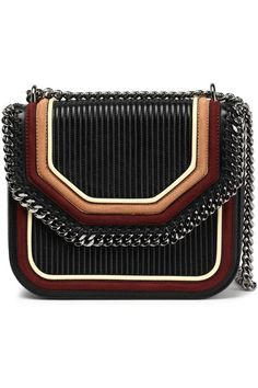 26bfdfc39c Chain-trimmed quilted faux leather shoulder bag   STELLA McCARTNEY   Sale  up to 70