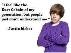 I like him, but Kurt Corbain?