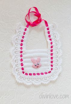 Crochet baby bib/ bib for girls and boys by OLIVINLOVE on Etsy / THIS IS A FINISHED PRODUCT for sale / quite cute! great shower gift