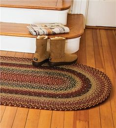 8%27 x 10%27 Oval Cotton Blend Braided Rug for the Kitchen