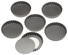 Wilton Perfect Results 4 Inch Round Tart Quiche Torte Pan Set of 6 -- Visit the image link more details. (This is an affiliate link) #PieTartPans