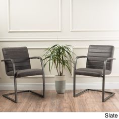 Alta Modern Microfiber Arm Chair (Set of 2) by Christopher Knight Home