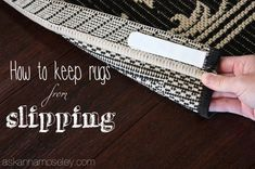 How to keep a rug from slipping