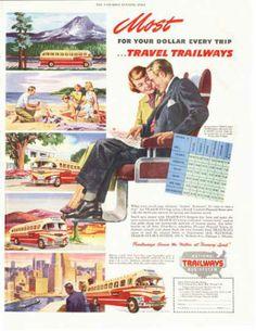 National Trailways Bus Print (1949)