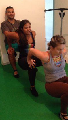 Vamos de treino com força muscular
