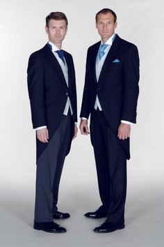 Navy Morning suits with Striped or Matching Trousers