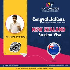 Congratulations & Bon Voyage for Overseas Education in New Zealand Study In New Zealand, Feedback For Students, Overseas Education, Dreaming Of You, Wish, Congratulations, Success, Stage, Motivation