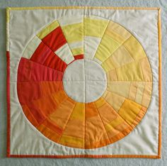 Mini Quilt of the Month, December: GoldenWreath - Knitting Crochet Sewing Crafts Patterns and Ideas! - the purl bee