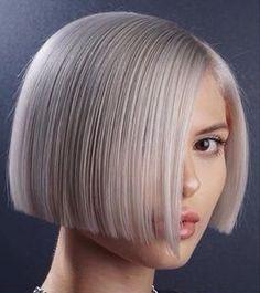 Haircuts For Fine Hair, Bob Hairstyles, Short Hairstyles For Women, Girl Short Hair, Short Hair Cuts, Short Hair Styles, Hc Hair, A Line Hair, Blunt Hair