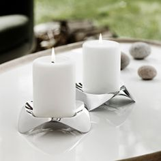 Papilio Stainless Uno Candle Holder & Stelton Papilio Uno| YLiving