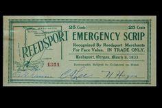 Scrip, Reedsport, Oregon http://catalog.osl.state.or.us/record=b2313695~S2