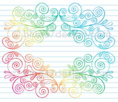 Hand-Drawn Sketchy Notebook Doodle Swirly Border Vector Illustration by blue67 by blue67design, via Flickr