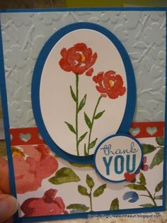 This was my Leadership 2015 swap card using Painted Petals.