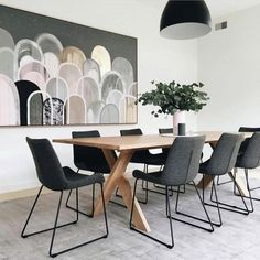 Picture perfect dining with our Ethnicraft Pettersson dining table & Cleo Sleigh dining chairs Ethnicraft Dining Table, Dining Room Design, Dining Chairs, Dining Room Decor, Country Dining Room Table, Dining Table Chairs, Home Decor, House Interior, Globewest Furniture