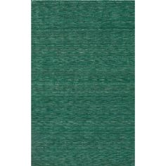 Tonal Solid 100% Wool Area Rug - Emerald (Green) (5'x7'6)