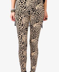 Cheetah Print Leggings | FOREVER21 - $9.00